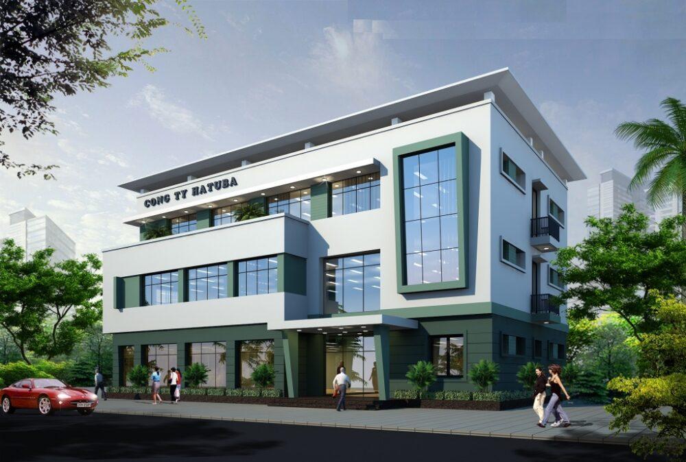 Thiết kế xây dựng văn phòng trụ sở công ty TNHH Hatuba