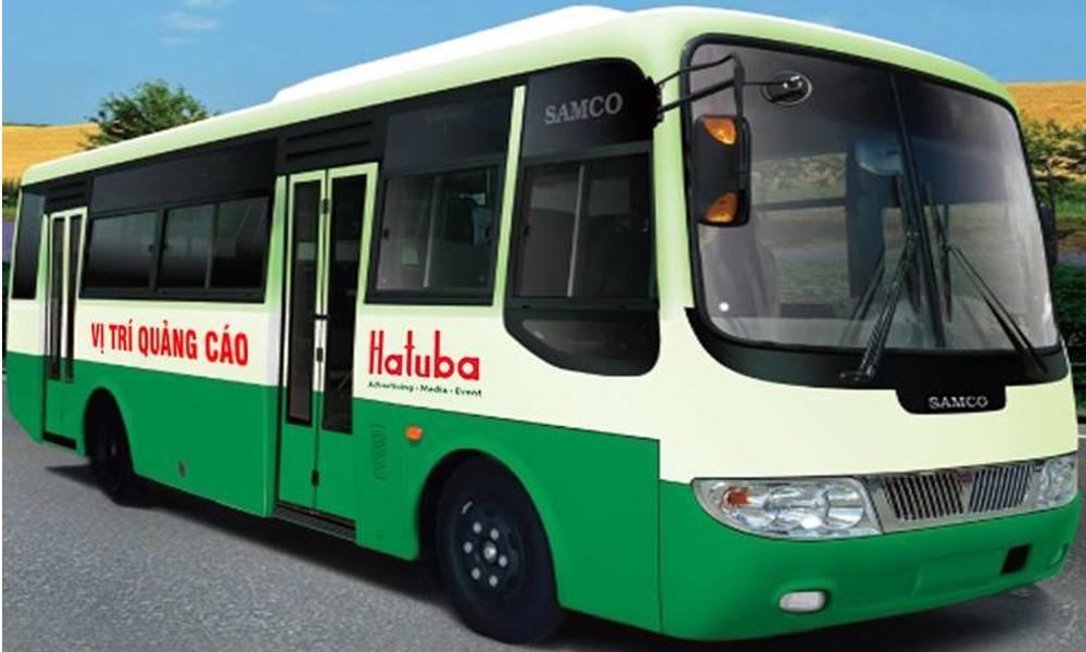 Quảng cáo trên thân xe bus