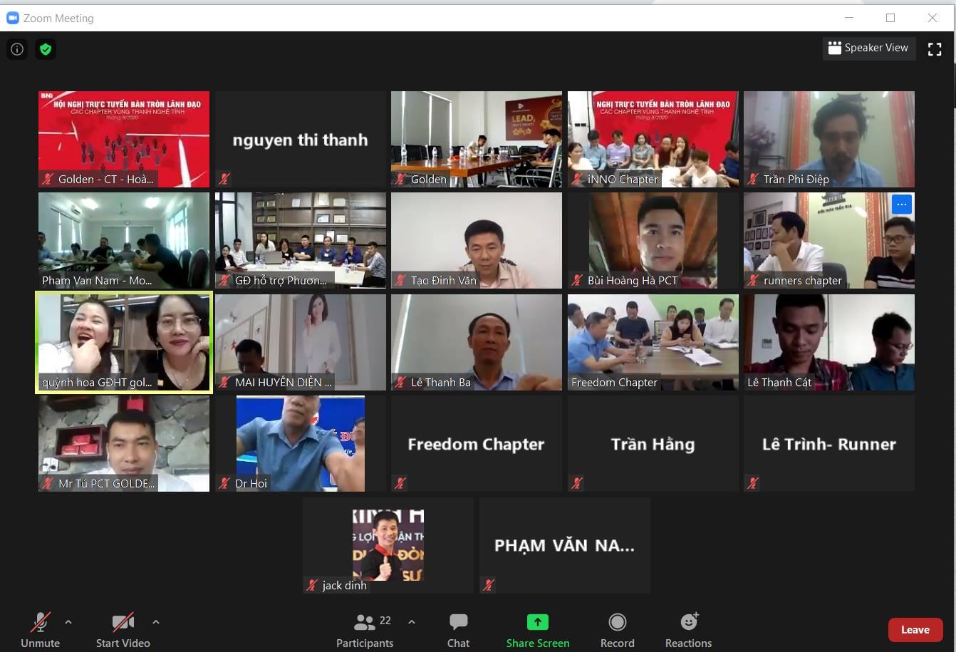Hội nghị được tổ chức qua chát Zoom online