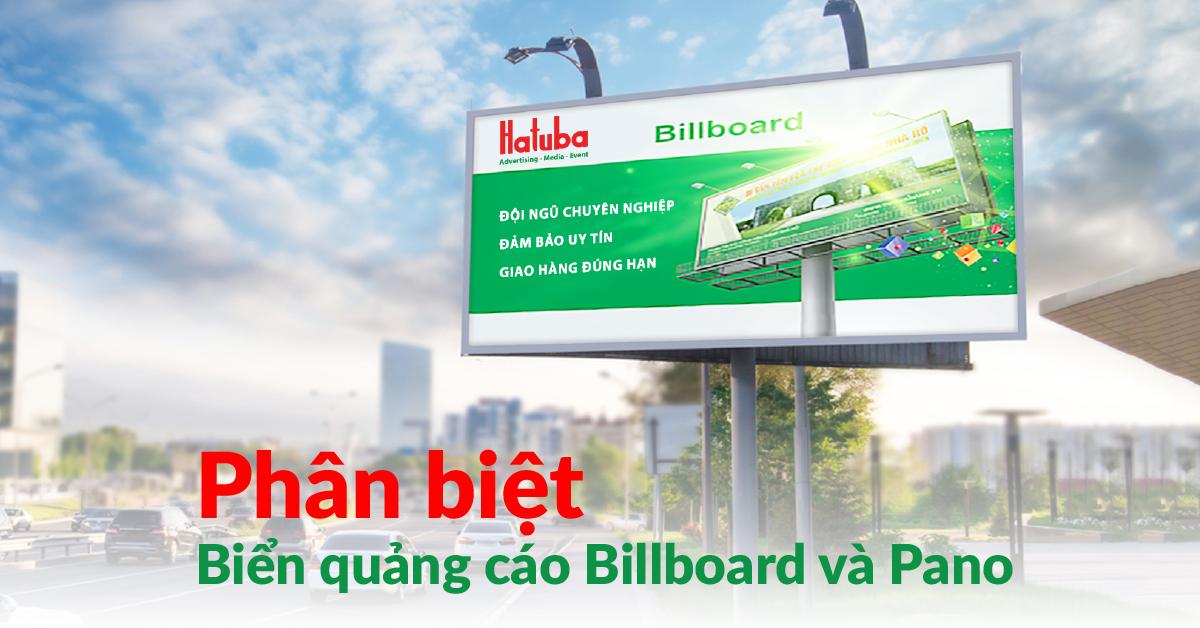 Phân biệt biển quảng cáo billboard và pano