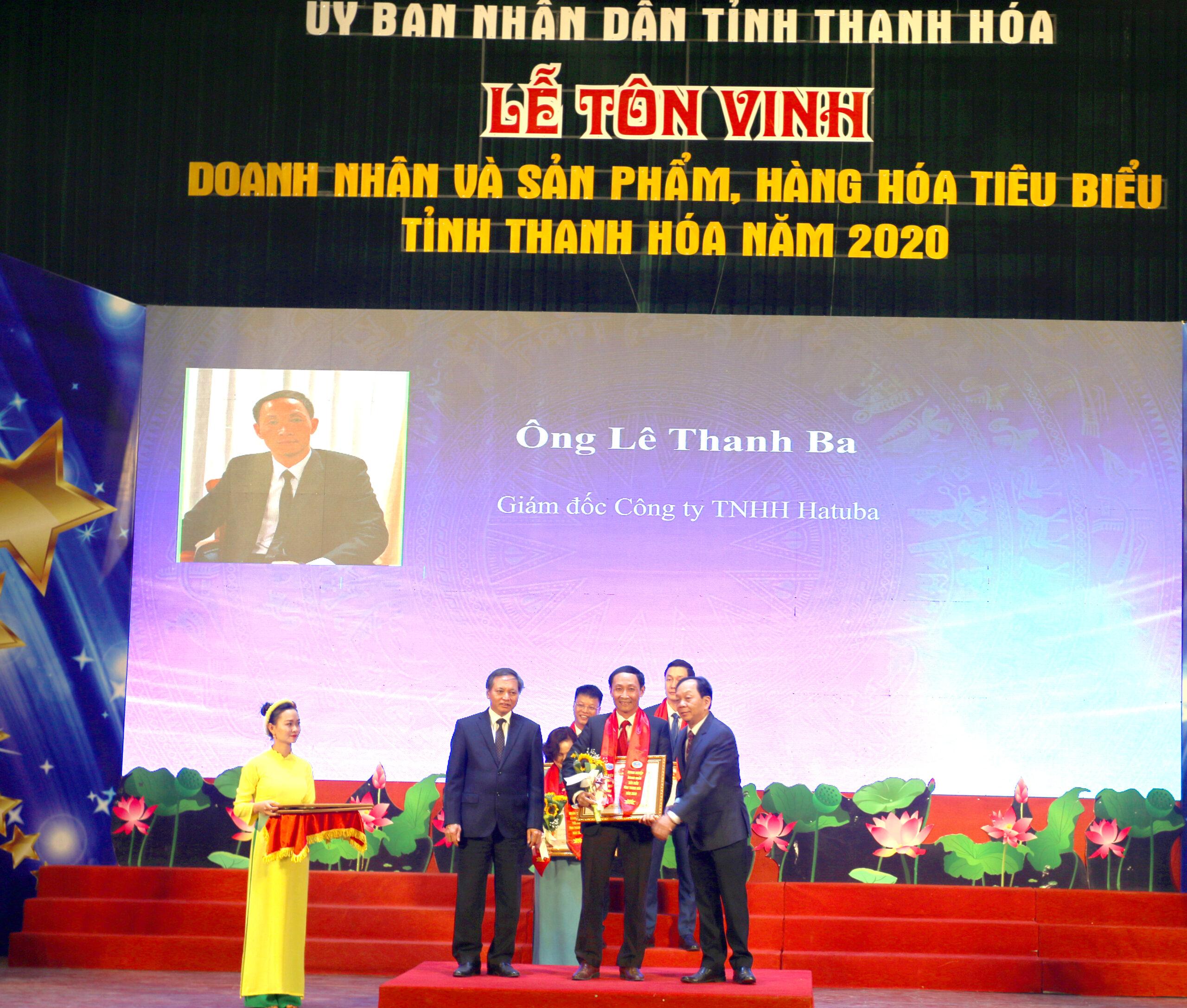 Ông Lê Thanh Ba vinh dự nhận bằng khen