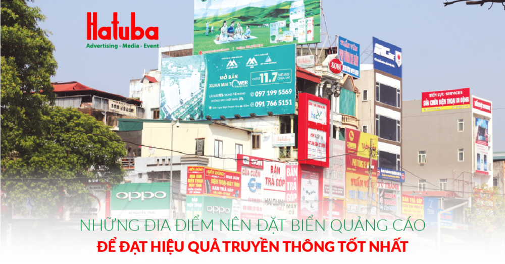 Những địa điểm nên đặt biển quảng cáo để đạt hiệu quả