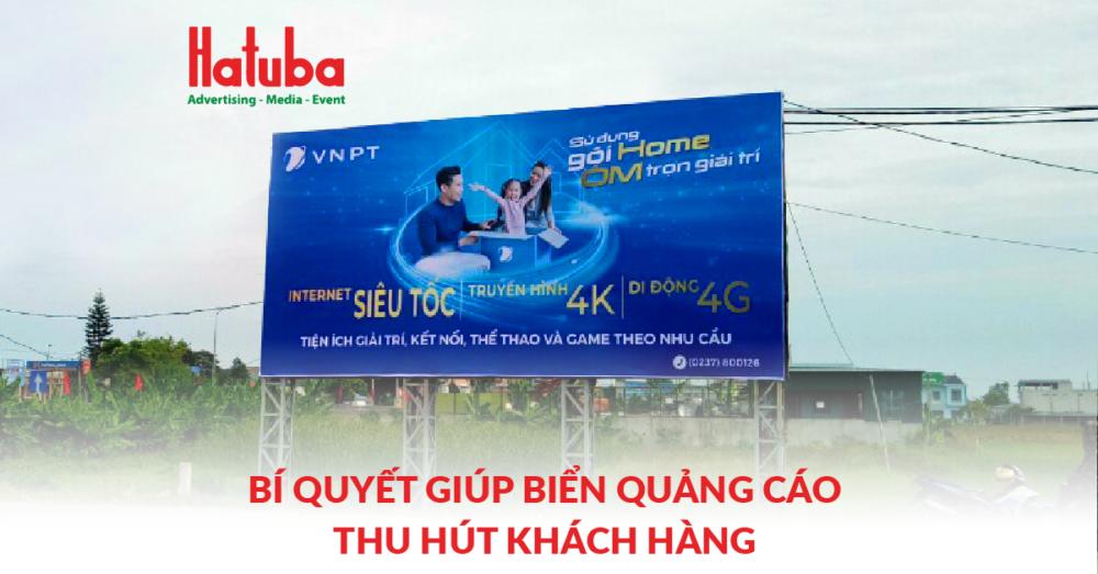 Bí quyết giúp biển quảng cáo thu hút khách hàng