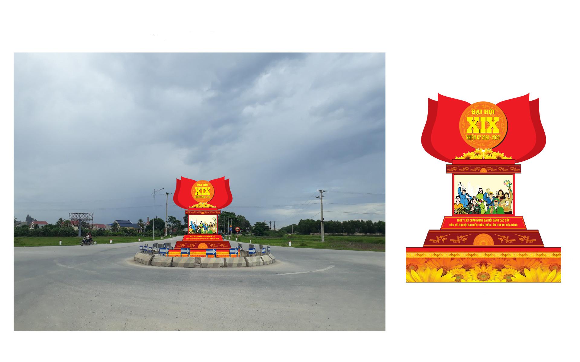 Phối cảnh thiết kế tại vòng xuyến Quảng Thịnh