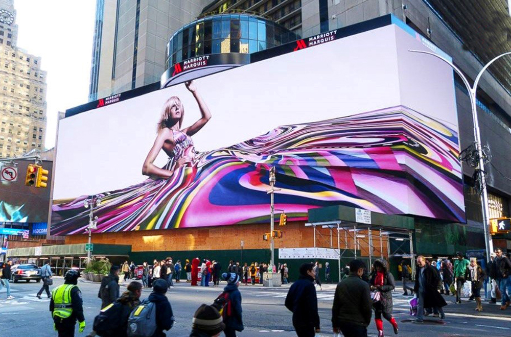 Màn hình led cỡ lớn sử dụng quảng cáo ngoài trời