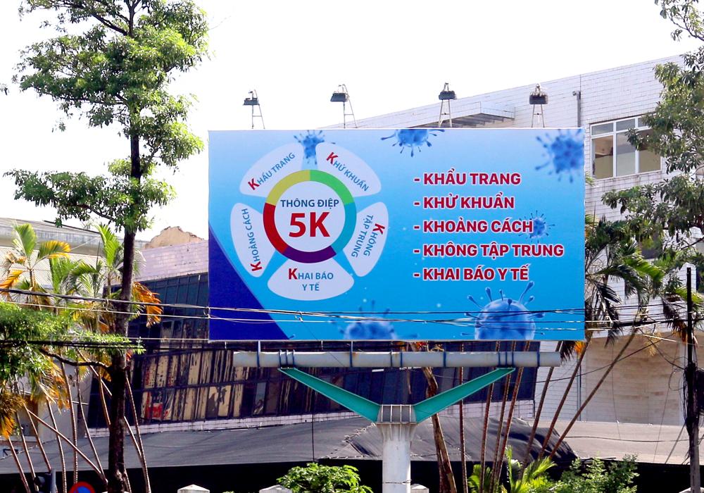 Công ty TNHH Hatuba triển khai quảng cáo ngoài trời với nội dung tuyên truyền phòng chống covid tại Thanh Hóa