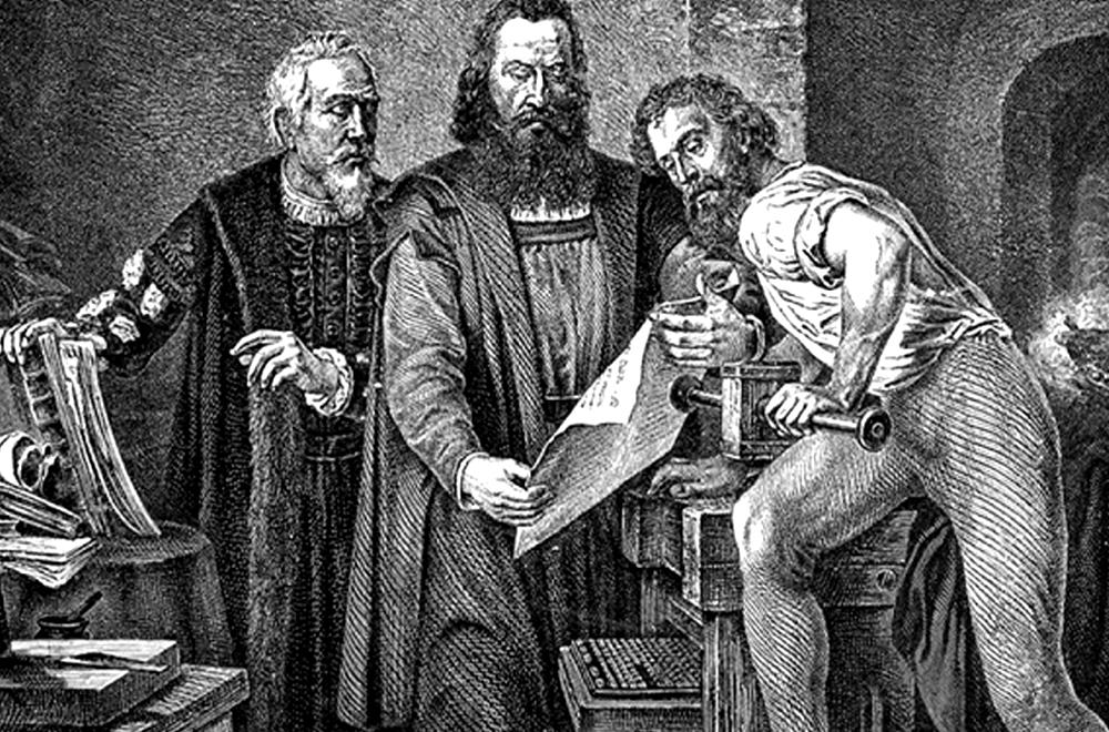 Gutenberg với phát minh kỹ thuật in chữ rời