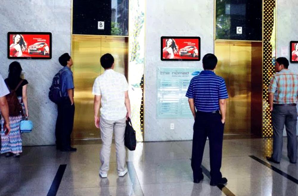 Quảng cáo màn hình Lcd treo tường sảnh chờ thanh máy