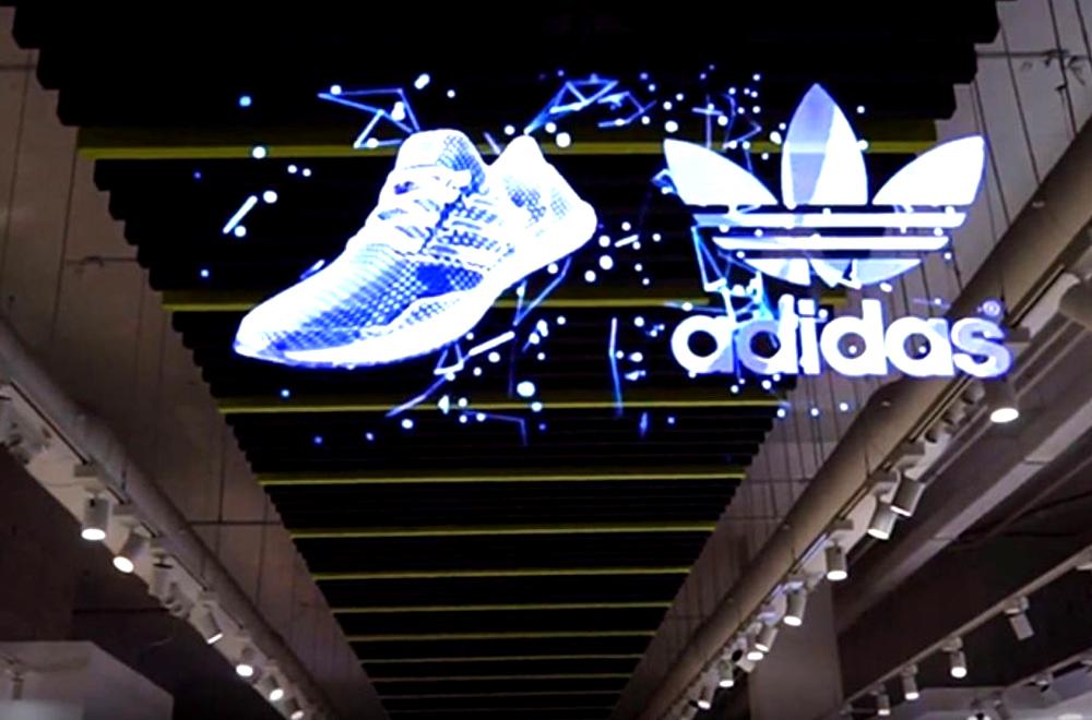 Quảng cáo màn Led Hologram cho thương hiệu Adidas